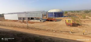 Cascade Trucks and biogas Digester