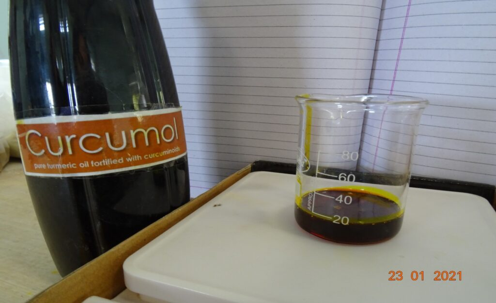 Curcumol used in the diet formulation during research