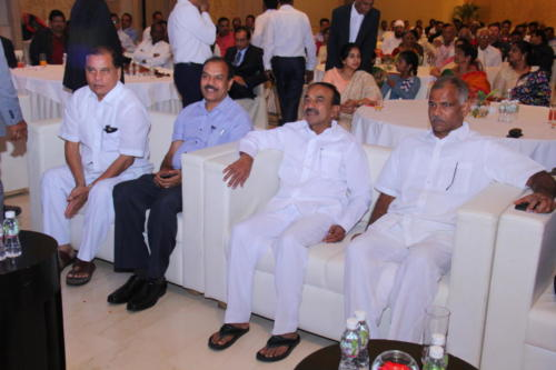 Dignitaries with audience